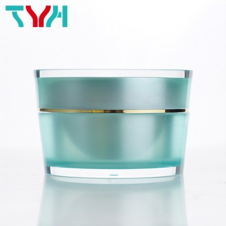 Round Conical Cream Cosmetic Jar in Double Layer for Personal Care Products