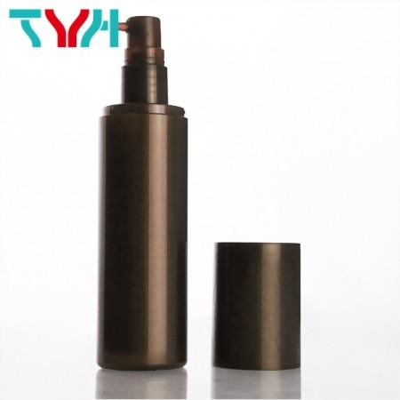Pearl Brown Round Single Layer Bottle, can match with Pump or Sprayer