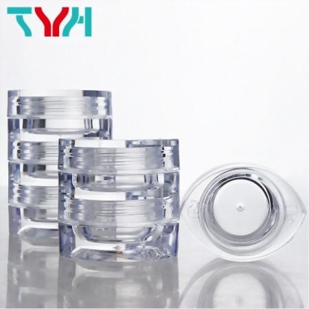 Eye Shape Clear Cosmetic Jar, Stackable Jar