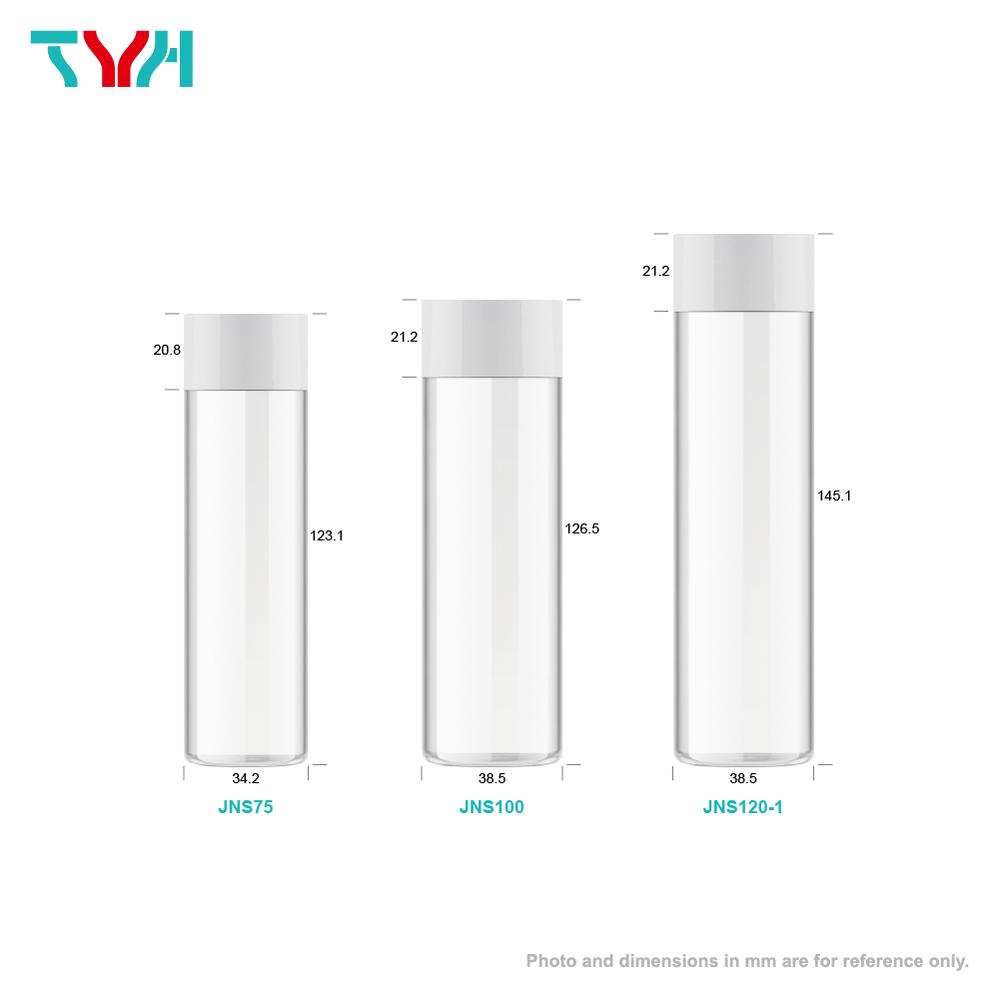 PETG 單層圓柱形化妝水空瓶 搭內塞