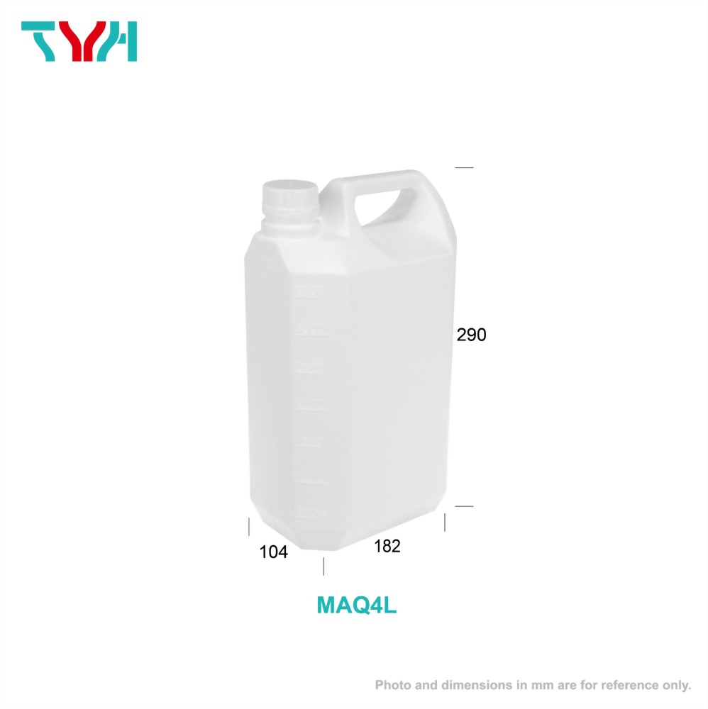 4L HDPE Square Diluted Alcohol Jerrycan