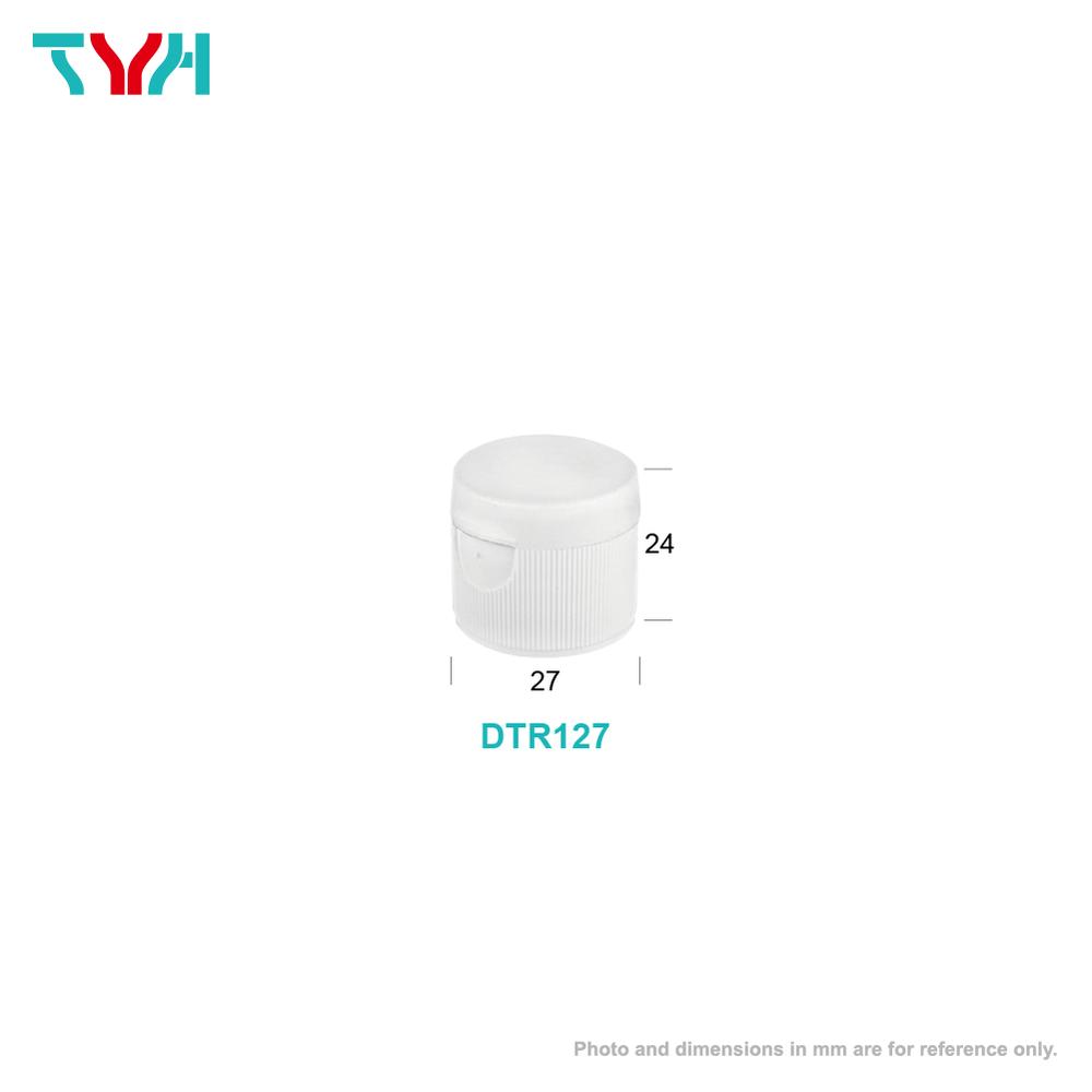 24/410 PP Smooth or Stripe Flip Bottle Cap | 27x24