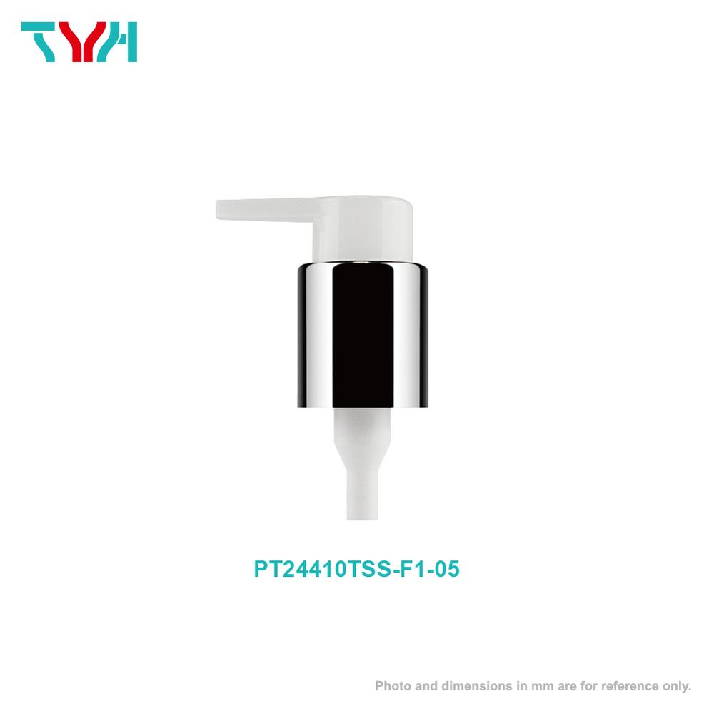 24/410 Aluminum High Collar Smooth Lotion Pump with Safty Lock | Dosage 0.5cc