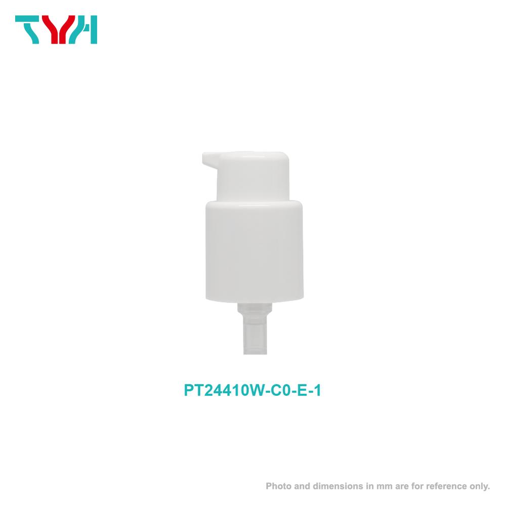 24牙 PP 左右開關光面外置彈簧短嘴乳液壓頭   出水量 0.5cc