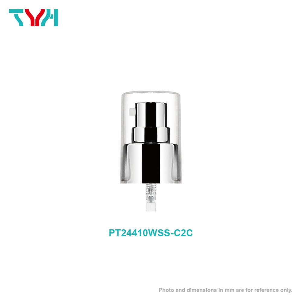 24/410 Aluminum Collar Set Smooth Dispenser Pump with Cap | Dosage 0.2cc