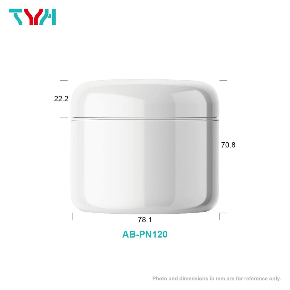 120ml PP 雙層圓形乳霜罐