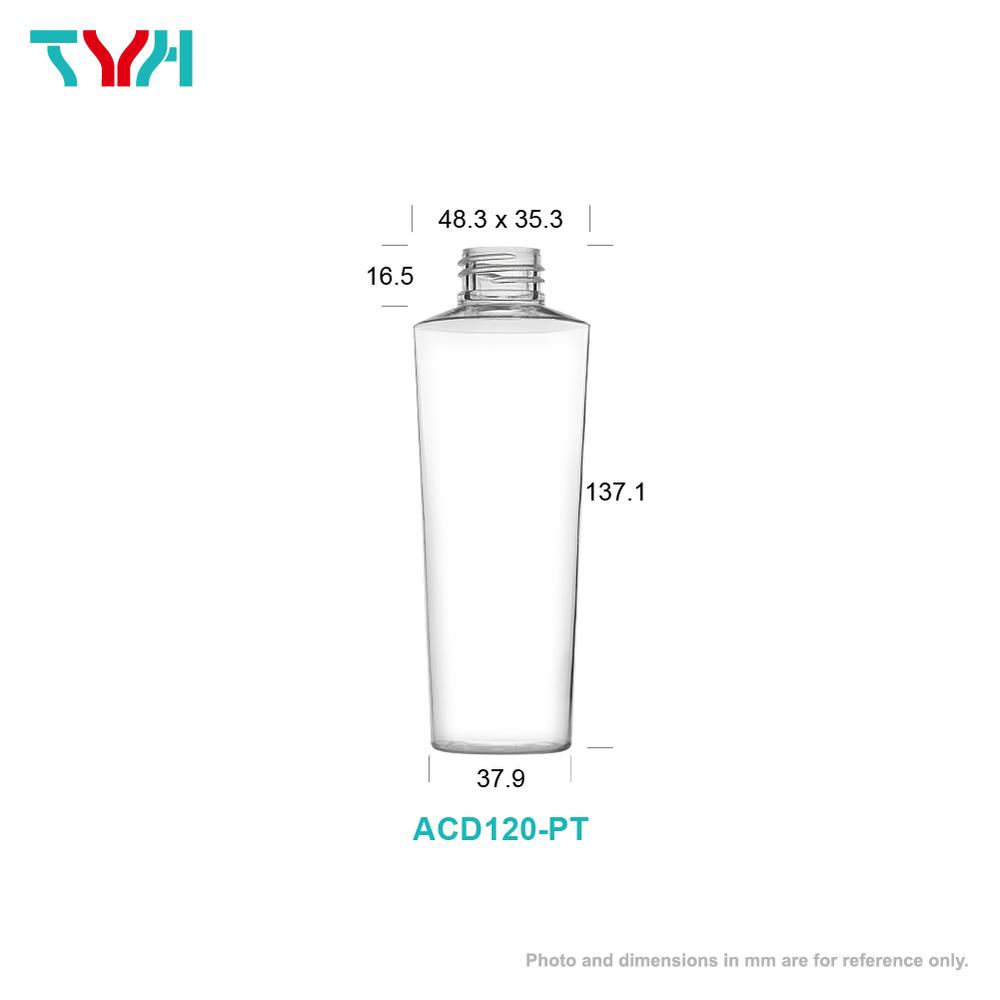 120ml 24/410 PETG Eye Shape Cosmetic Bottle in Single Wall