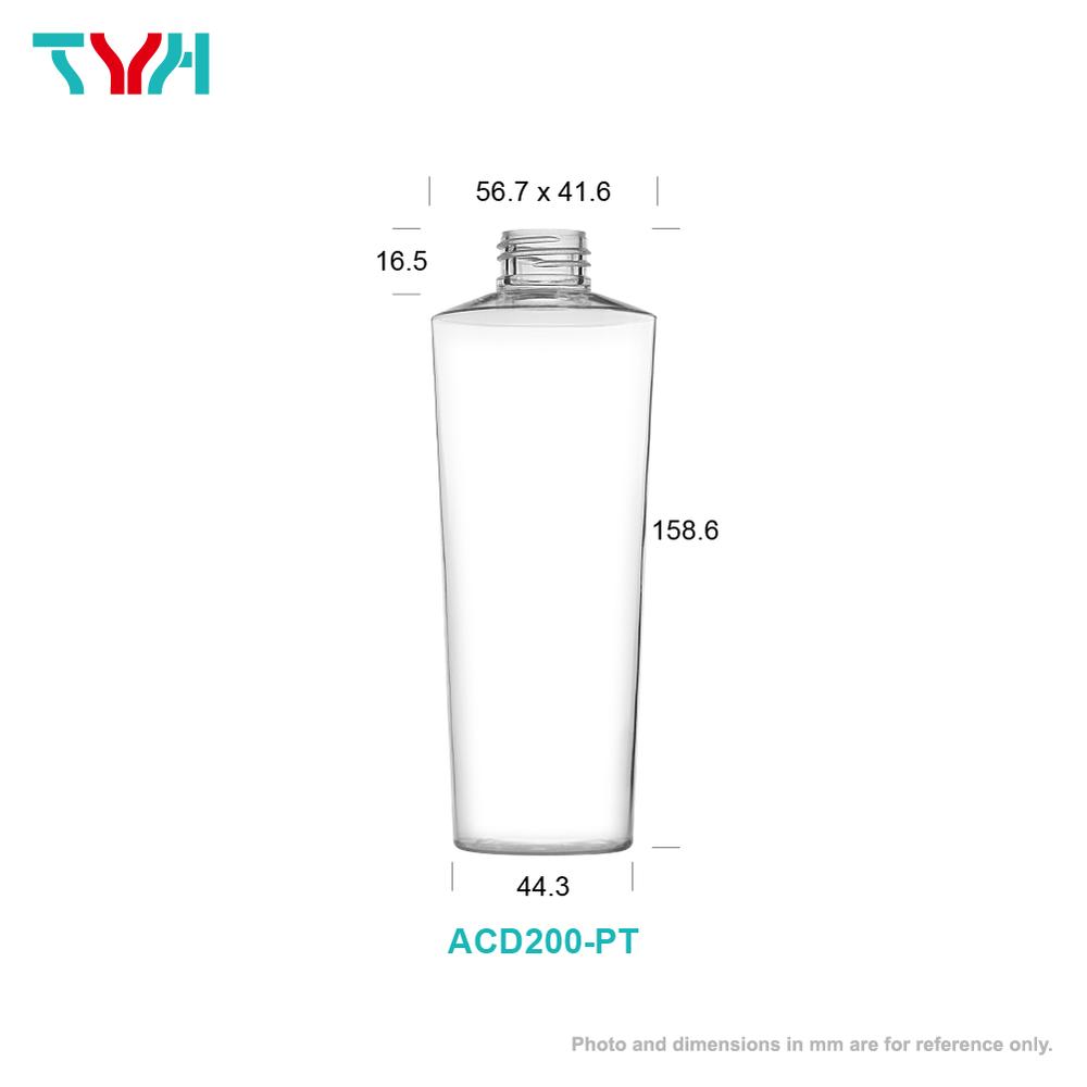 200ml 24/410 PETG Eye Shape Cosmetic Bottle in Single Wall