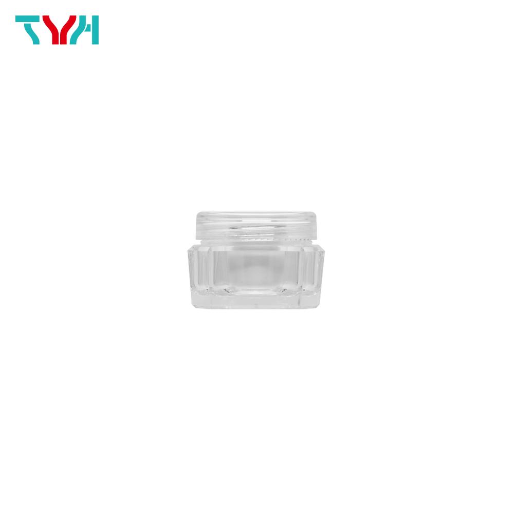 10ml PS Diamond Shape Octagon Cream Jar in Double Wall