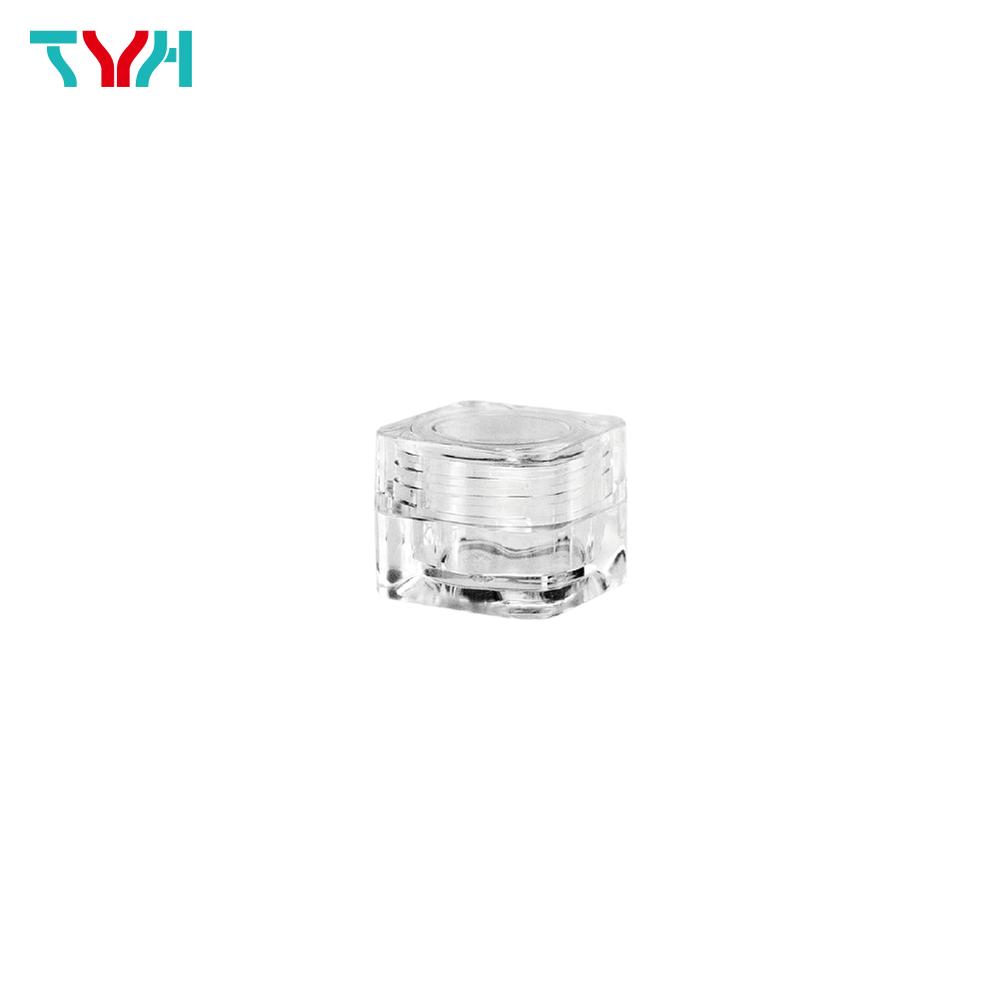 5ml PS Stackable Square Color Cosmetic Pot | Cap+Base