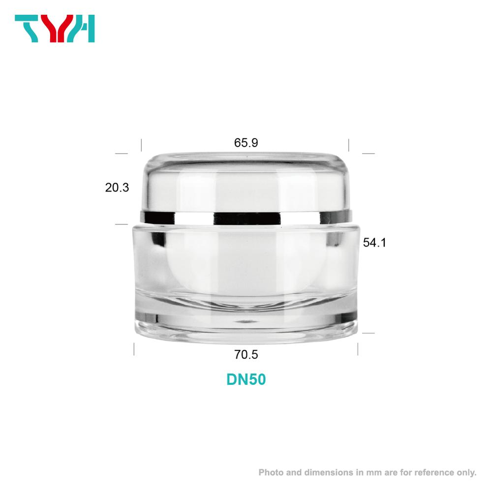 50ml PMMA Round Cream Jar in Double Wall