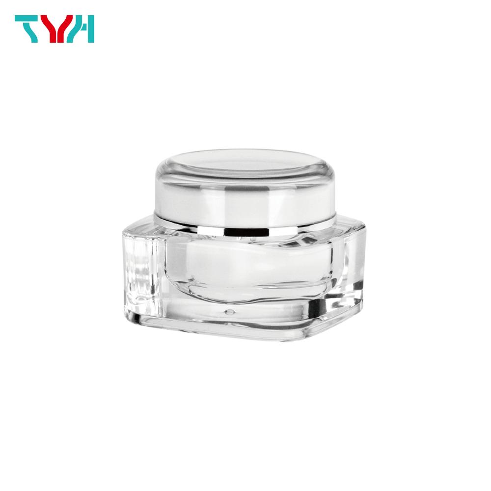 30ml PMMA Rectangle Cream Jar in Double Wall