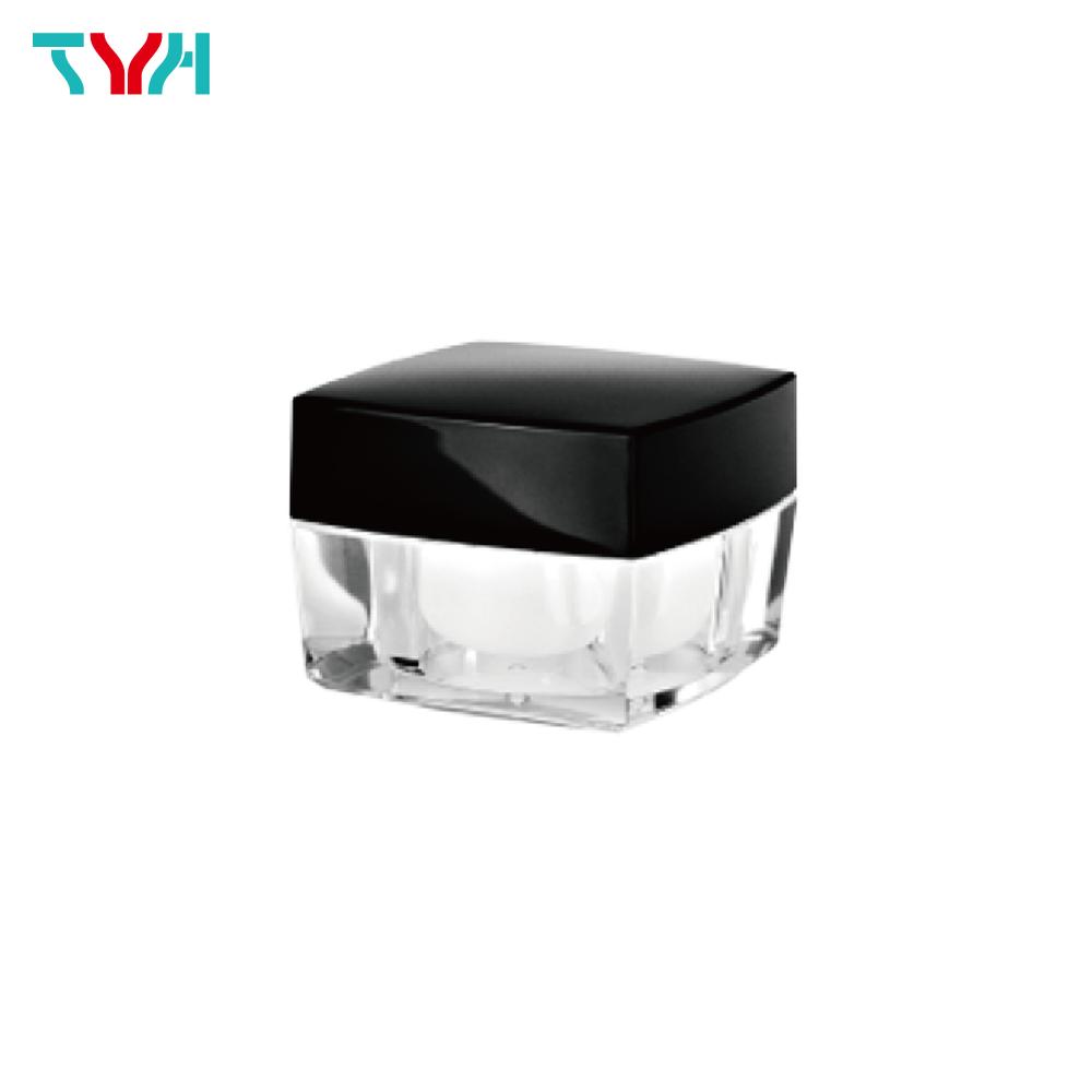 30ml PMMA Square Arc Cream Jar in Double Wall