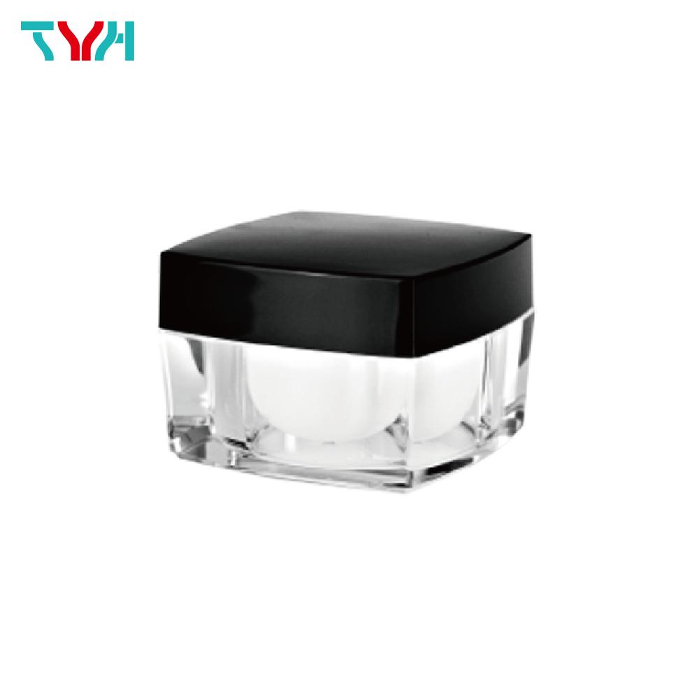 50ml PMMA Square Arc Cream Jar in Double Wall