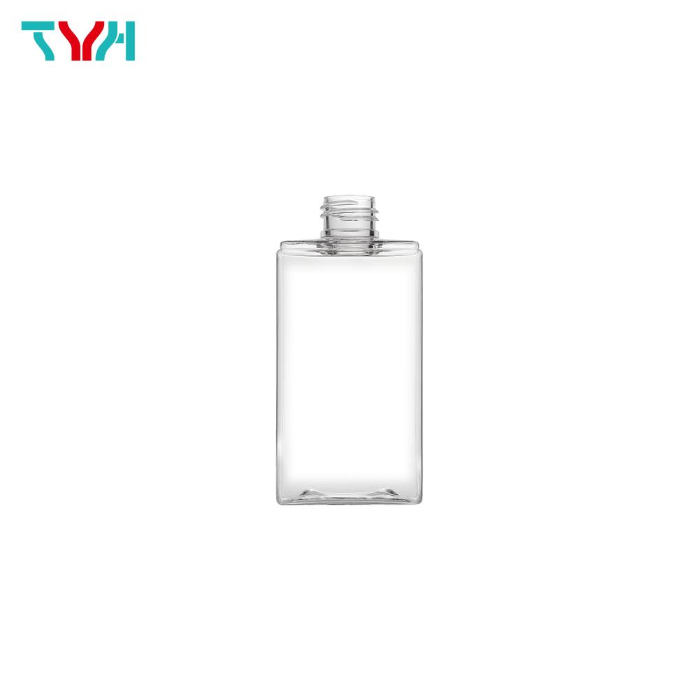 200ml 24/410 PETG Rectangle Cosmetic Bottle in Single Wall