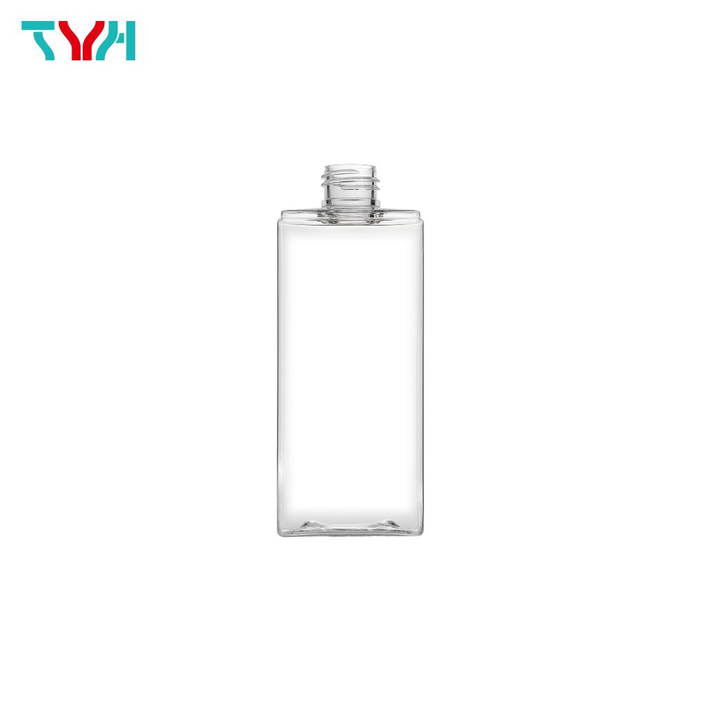 250ml 24/410 PETG Rectangle Cosmetic Bottle in Single Wall