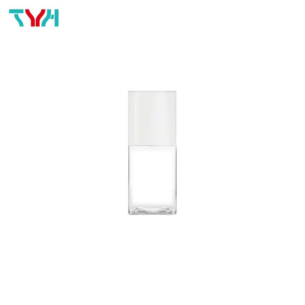 75ml 20/410 PETG Rectangle Cosmetic Bottle in Single Wall with Cap