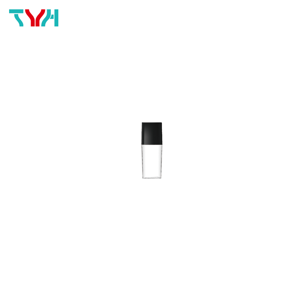 5ml PETG Square Arc Cosmetic Bottle in Single Wall with Inner Plug