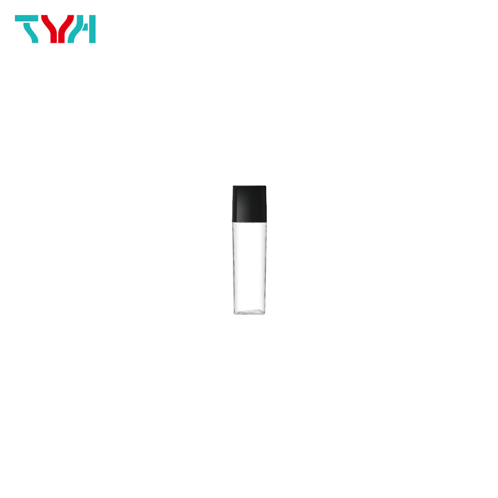 10ml PETG Square Arc Cosmetic Bottle in Single Wall with Inner Plug