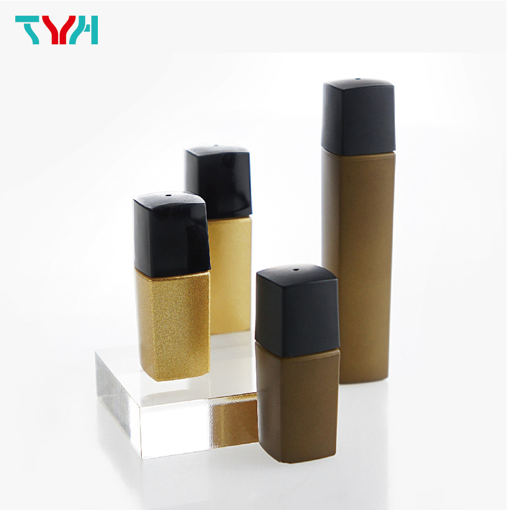 50ml 20/410 PETG Square Arc Cosmetic Bottle in Single Wall with Inner Plug