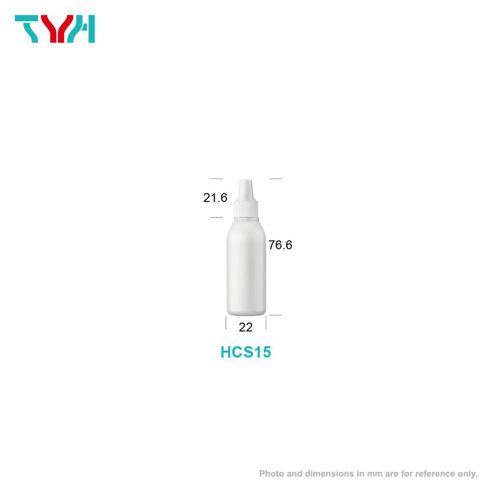 15ml LDPE Boston Round Ampoule Bottle with Nozzle Plug