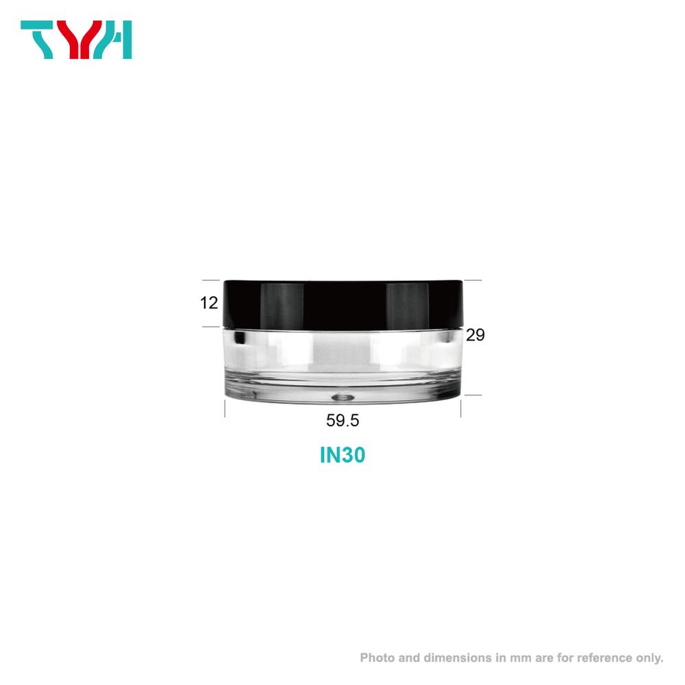 30ml PETG Short Round Cream Jar in Single Wall