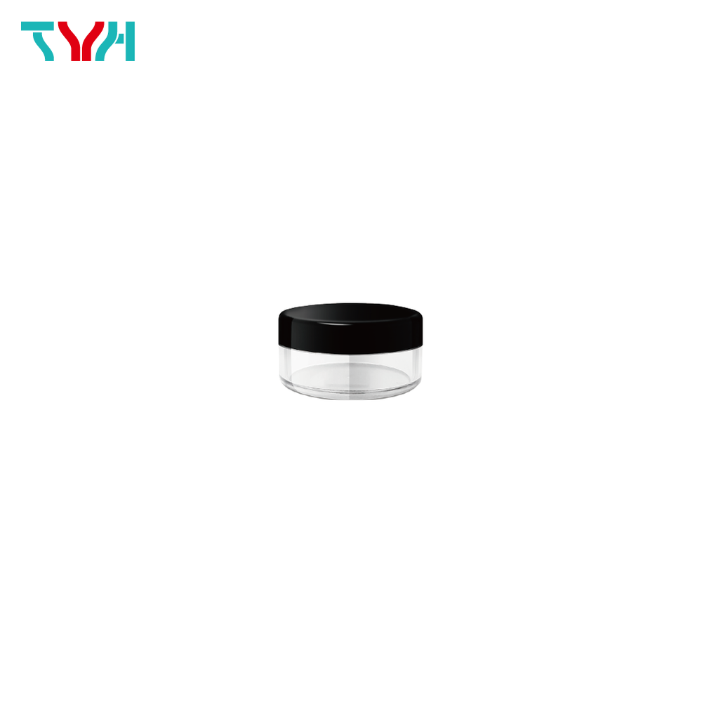 3ml SAN Round Loose Powder Jar with Sifter and Fillet Cap