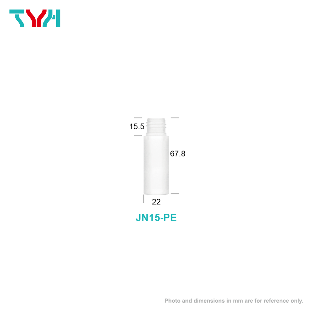 15ml 18/415 PE Cylindrical Cosmetic Bottle in Single Wall