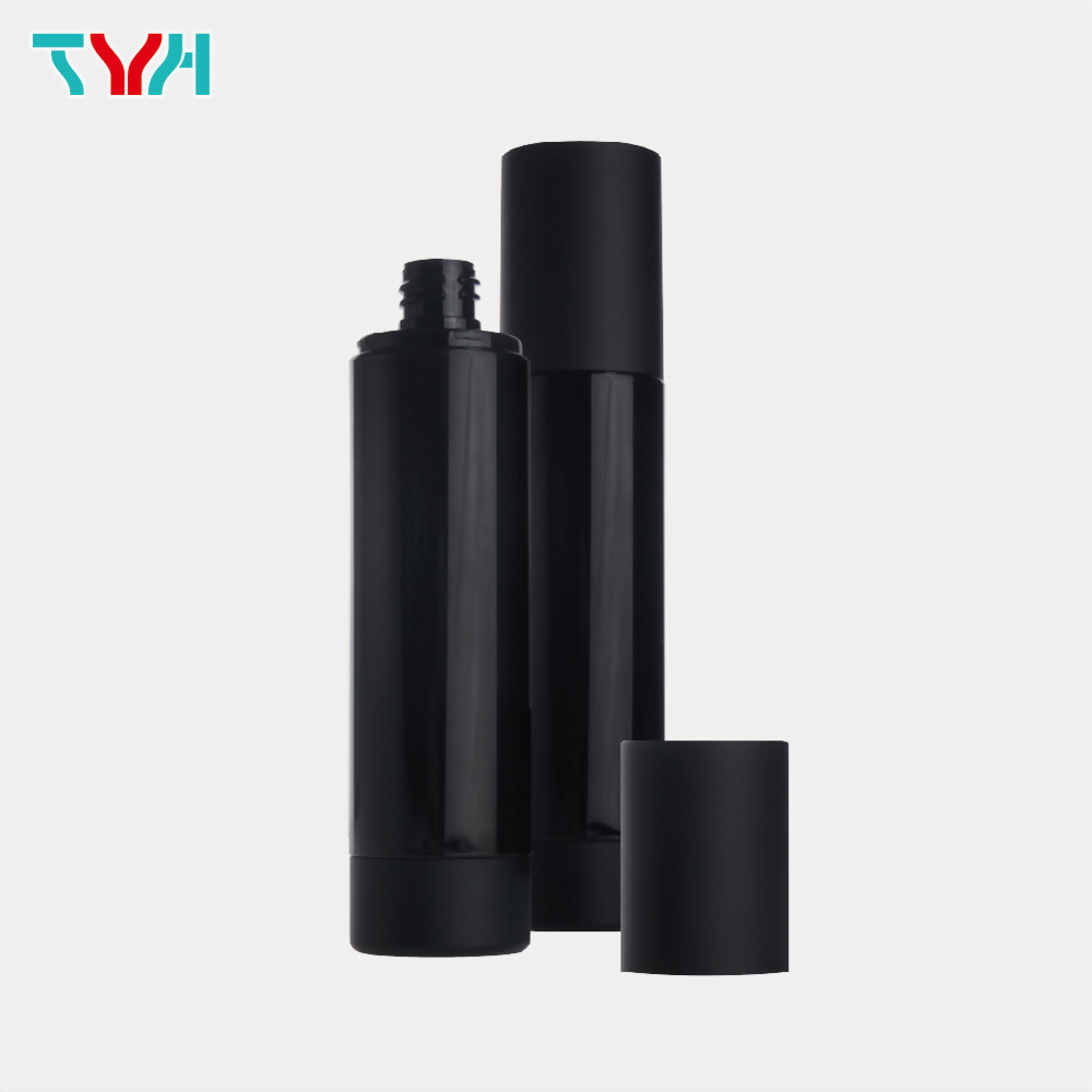 120ml 18/415 PETG Cylindrical Cosmetic Bottle in Single Wall with Inner Plug and Smooth Base