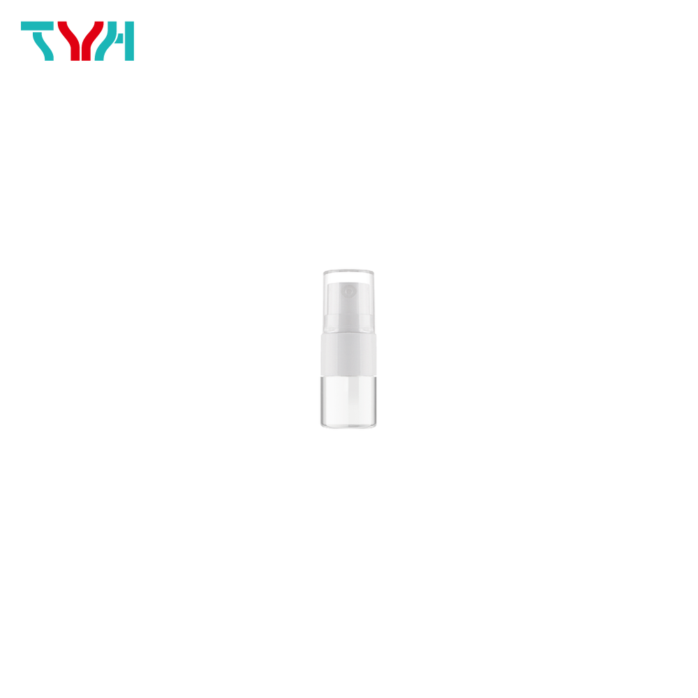 5ml 18/415 PETG Cylindrical Cosmetic Bottle in Single Wall with Pump and Small Cap