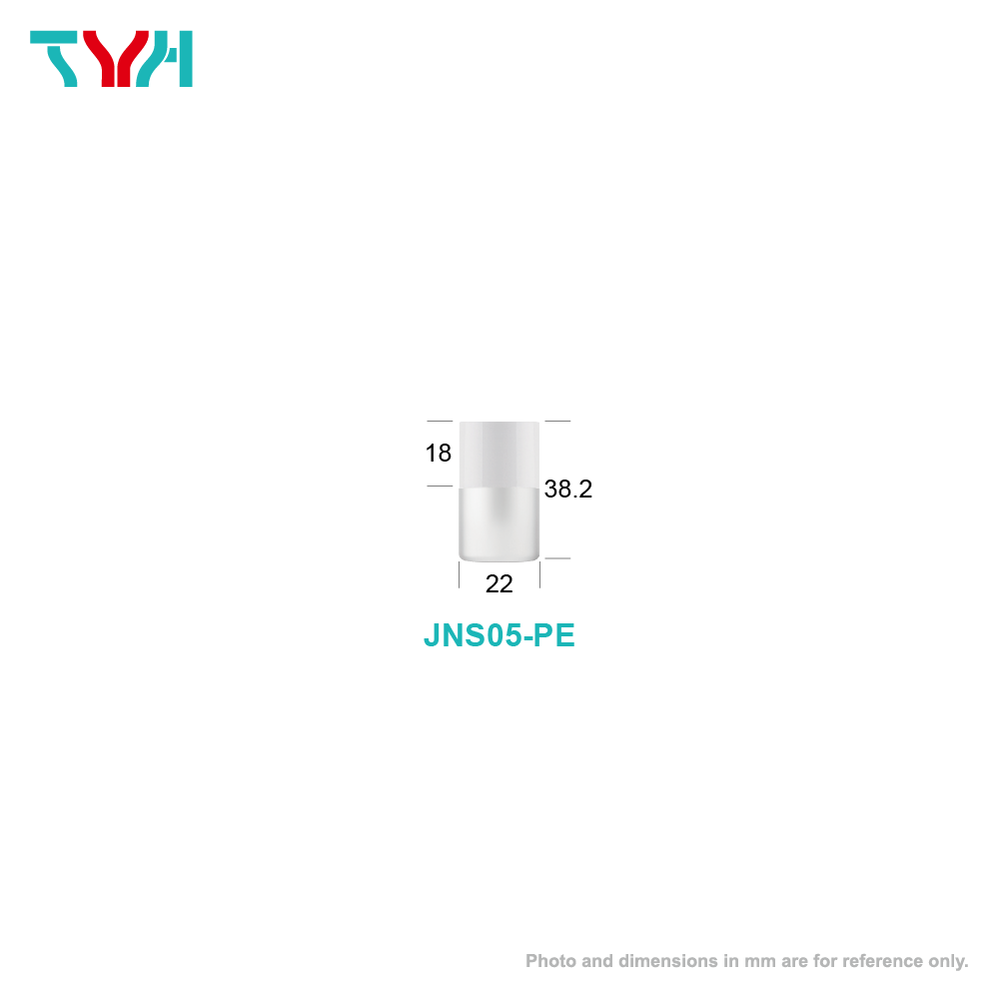 5ml 18/415 PE Cylindrical Cosmetic Bottle in Single Wall with Inner Plug and Short Screw Cap