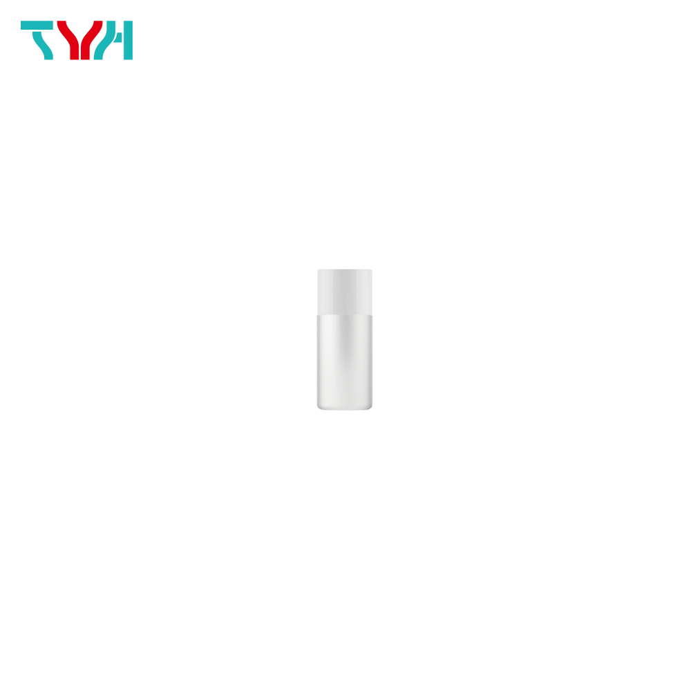 10ml 18/415 PE Cylindrical Cosmetic Bottle in Single Wall with Inner Plug and Short Screw Cap