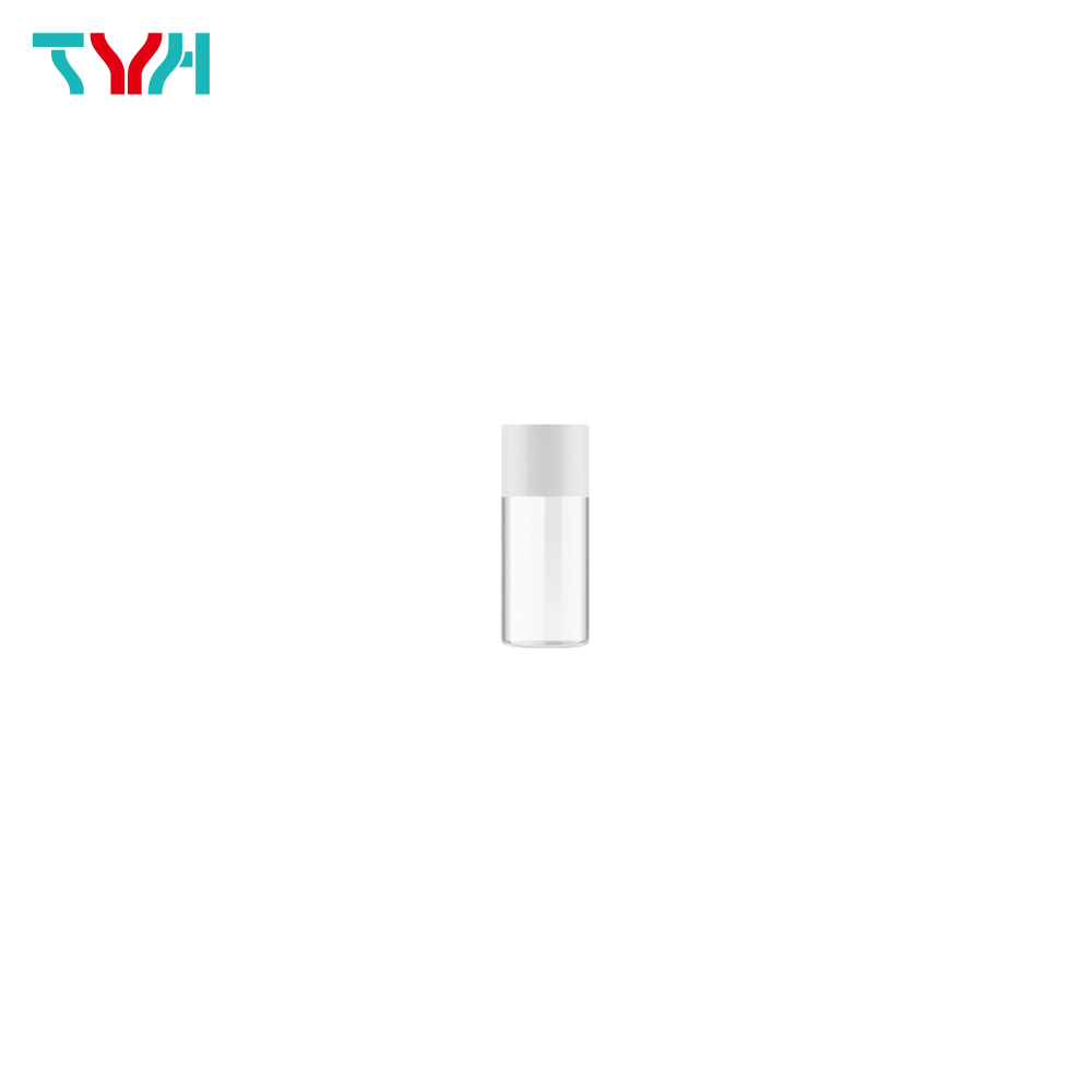 10ml 18/415 PETG Cylindrical Cosmetic Bottle in Single Wall with Inner Plug and Short Screw Cap