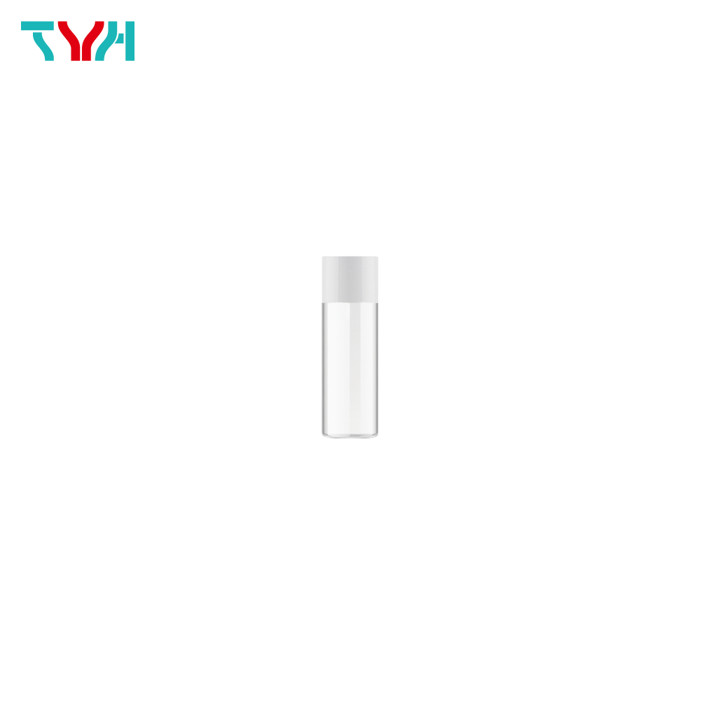 15ml 18/415 PETG Cylindrical Cosmetic Bottle in Single Wall with Inner Plug and Short Screw Cap