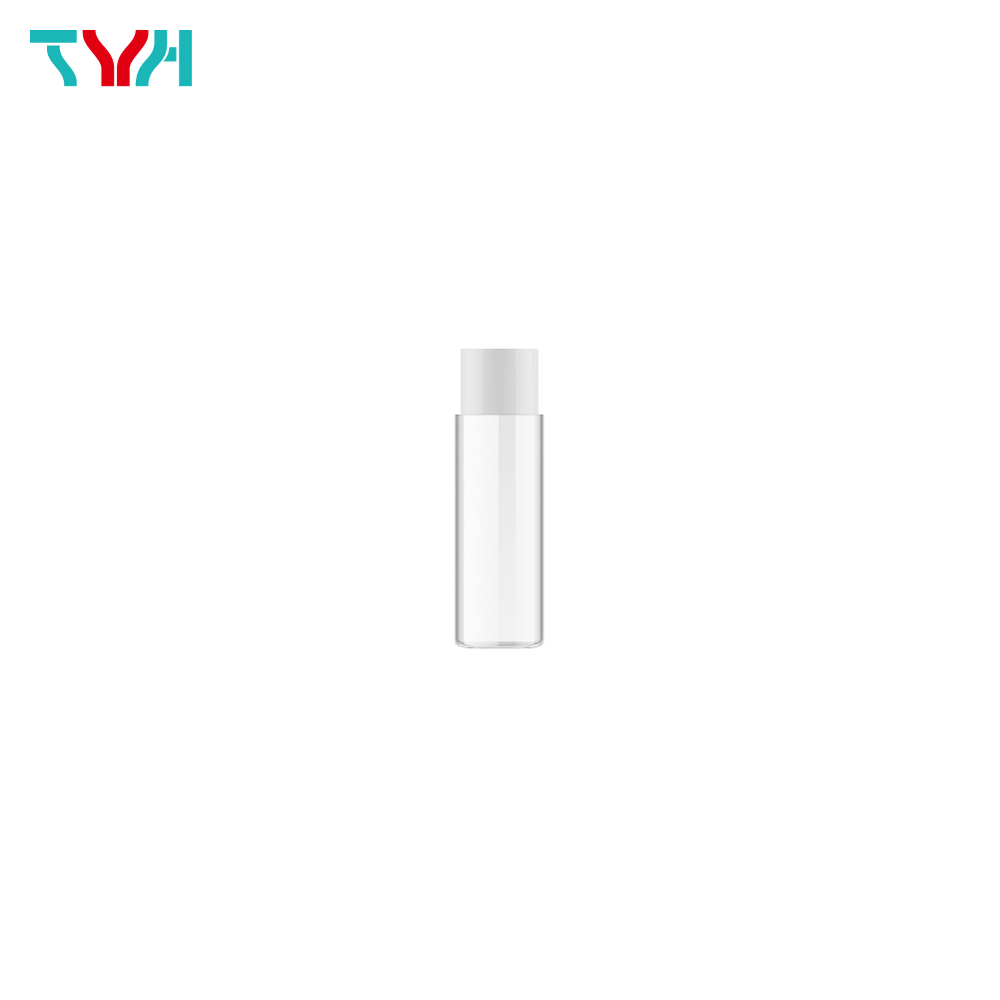20ml 18/415 PETG Cylindrical Cosmetic Bottle in Single Wall with Inner Plug and Short Screw Cap