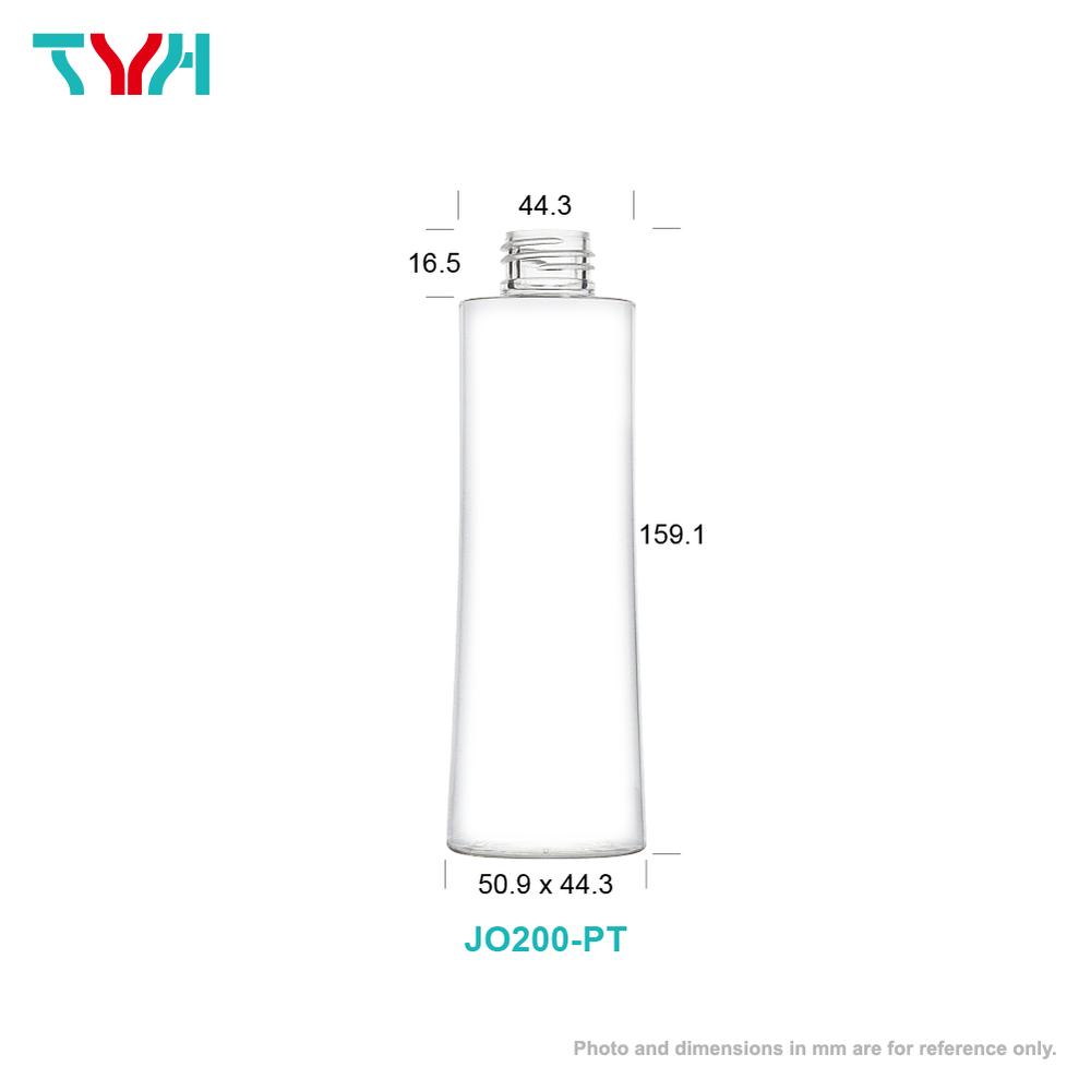 200ml 24/410 PETG Curve Cosmetic Bottle in Single Wall
