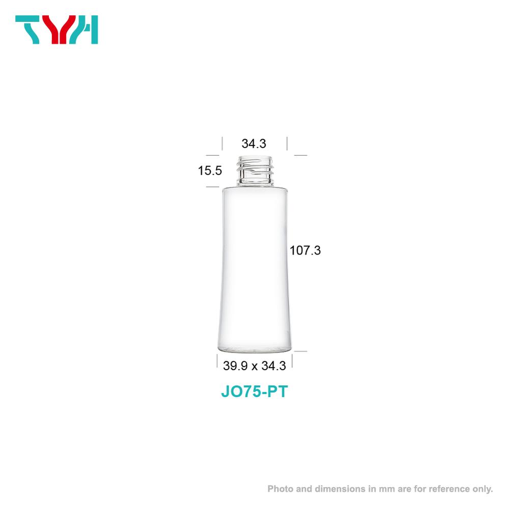 75ml 18/415 PETG Curve Cosmetic Bottle in Single Wall