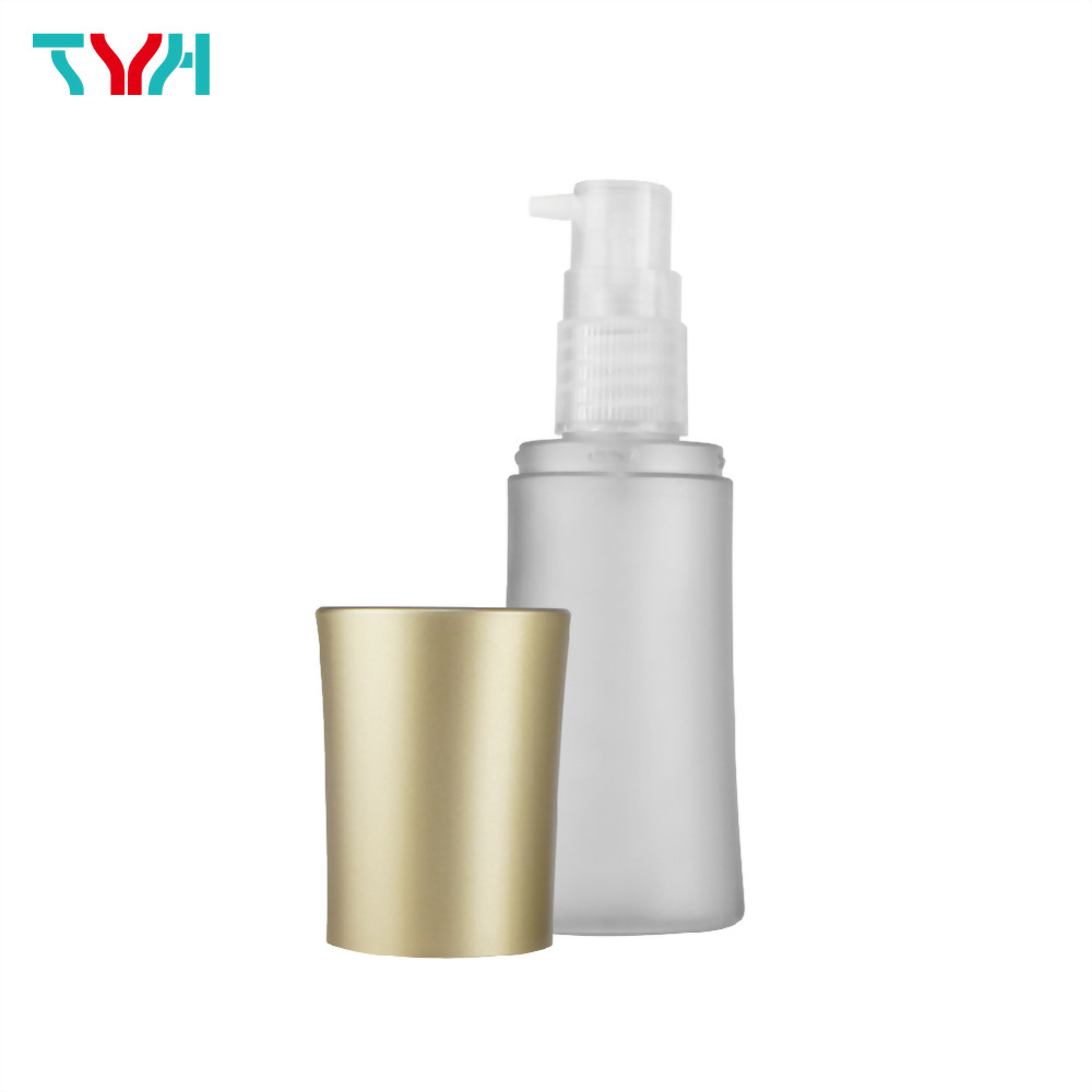 50ml 18/415 PETG Curve Cosmetic Bottle in Single Wall with Pump and Conical Cap