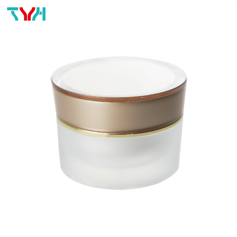 100ml PMMA Bucket Shape Round Cream Jar in Double Wall with Conical Cap