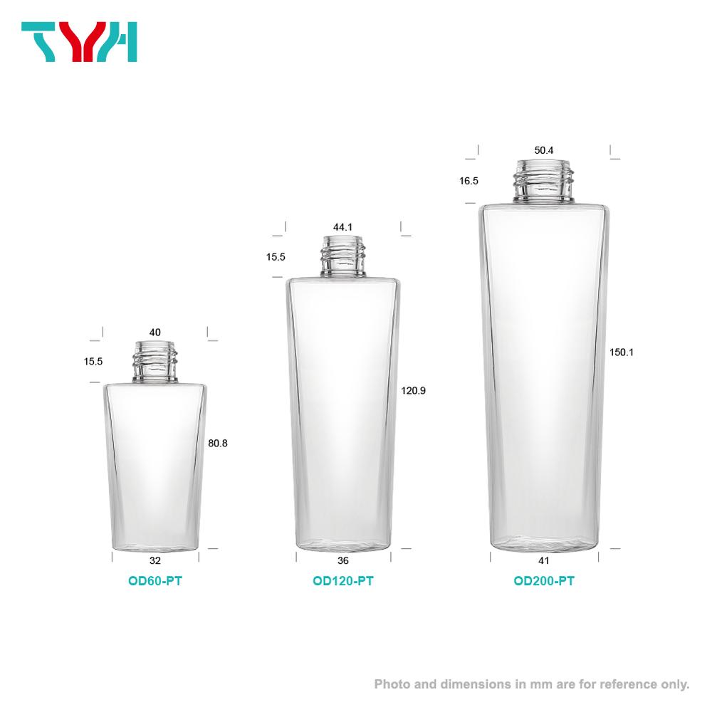 PETG 單層方圓錐形乳液瓶
