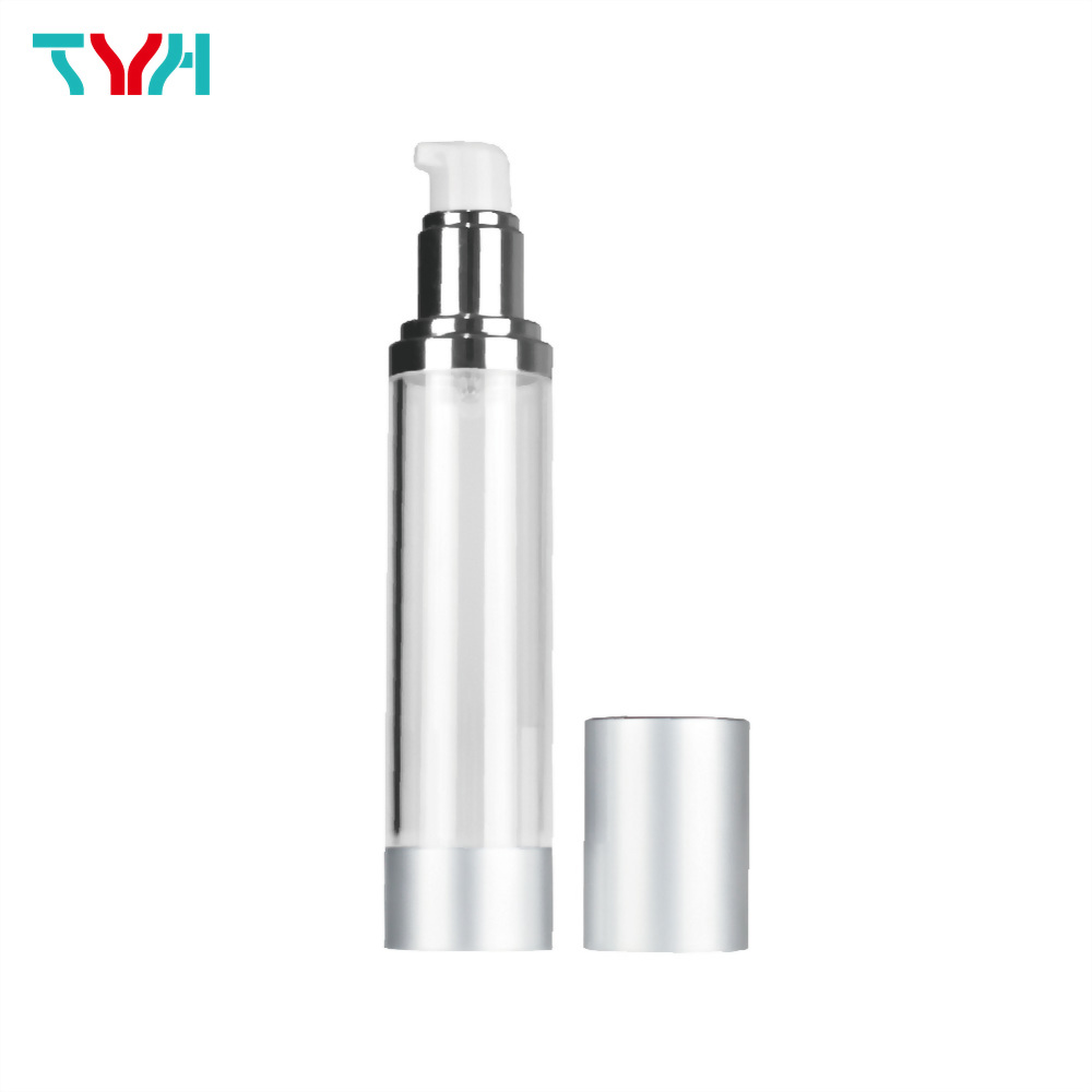 30ml PETG Cylindrical Airless Bottle with Aluminum Base