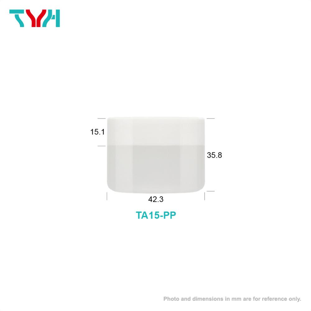 15ml PP Round Cream Jar in Single Wall