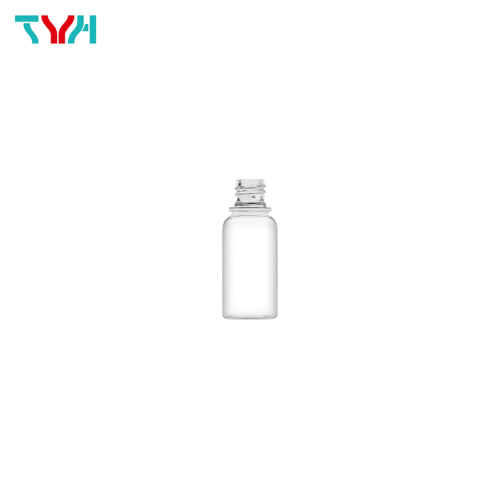 35ml 18/415 PETG Boston Round Cosmetic Bottle in Single Wall | Concave Bottleneck