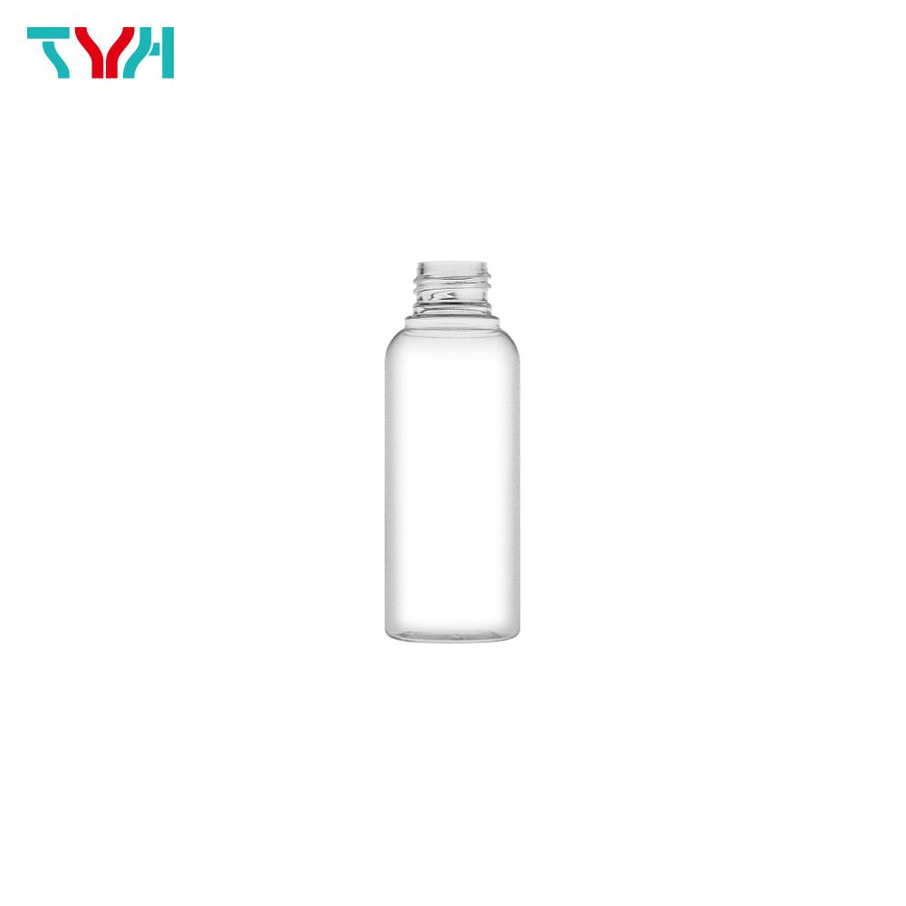 110ml 24/410 PETG Boston Round Cosmetic Bottle in Single Wall