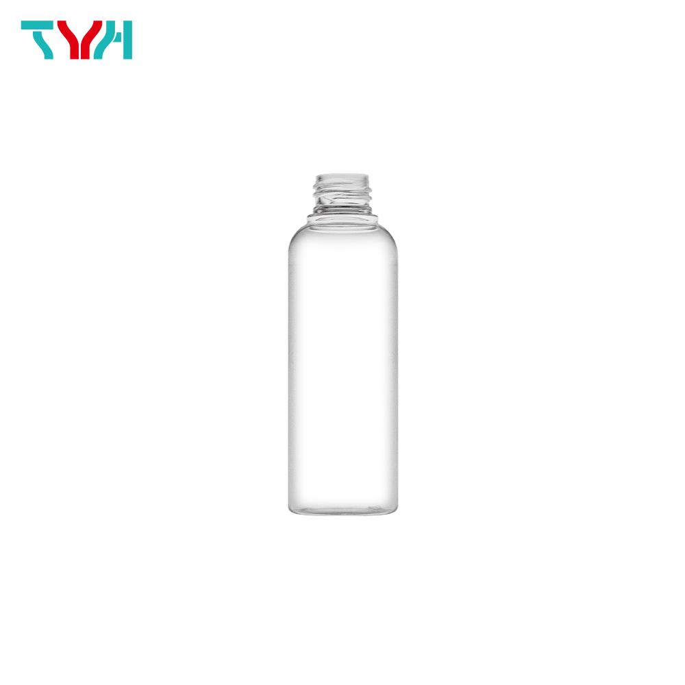 150ml 24/410 PETG Boston Round Cosmetic Bottle in Single Wall