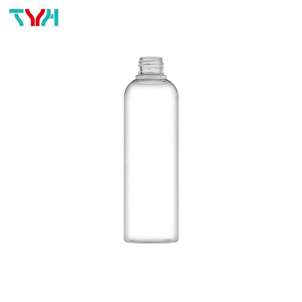 250ml 24/410 PETG Boston Round Cosmetic Bottle in Single Wall