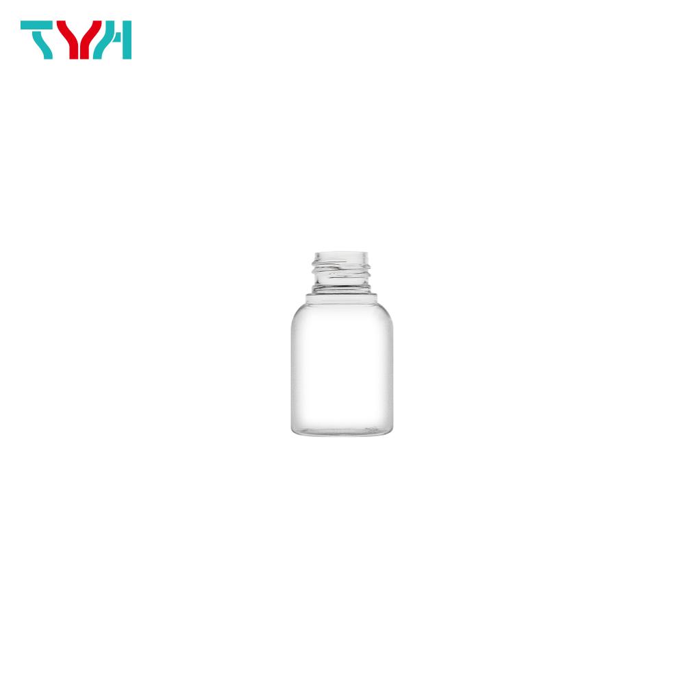 50ml 24/410 PETG Boston Round Cosmetic Bottle in Single Wall