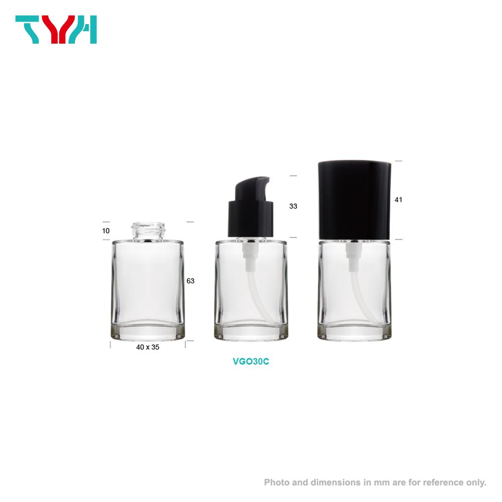 Glass Oval Glass Bottle