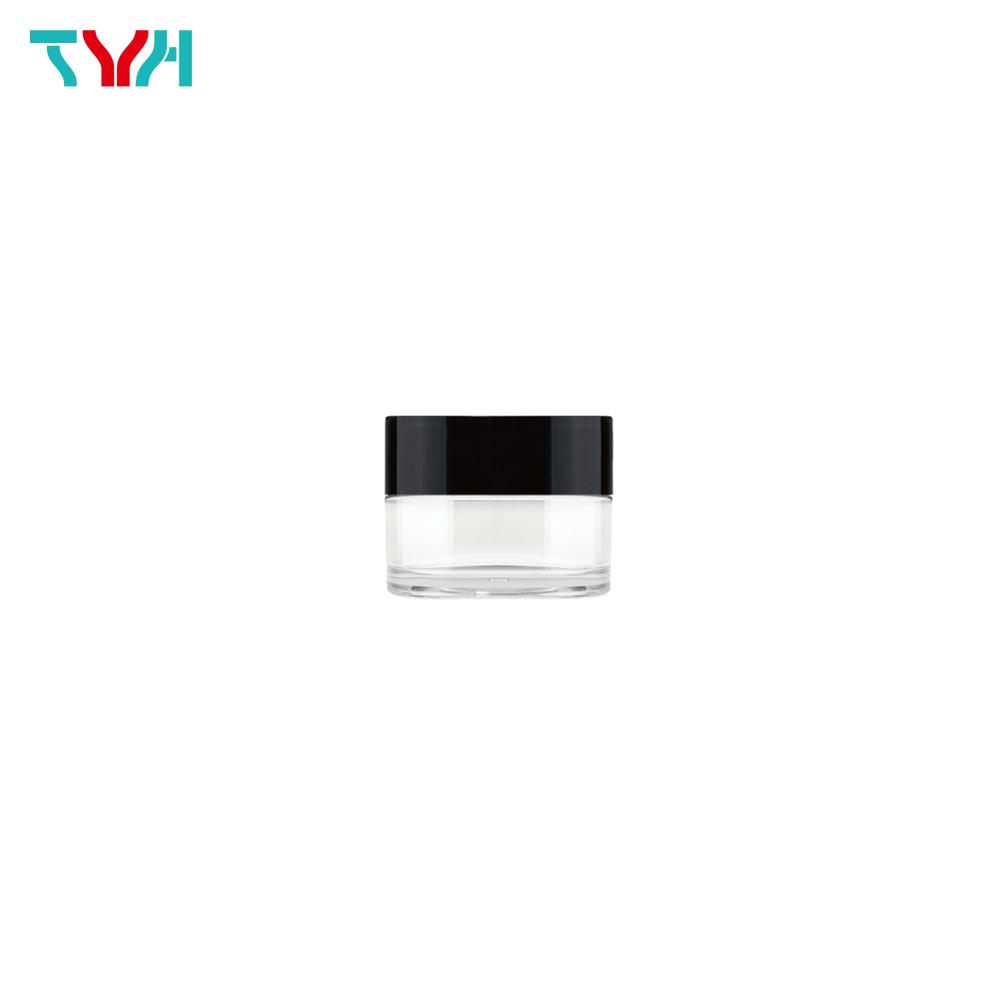 10ml PETG Round Cream Jar in Single Wall with Single Wall Cap