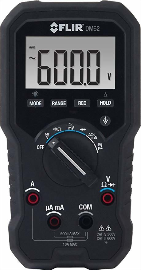 FLIR DM62 電氣和現場專用的真有效值數位萬用表